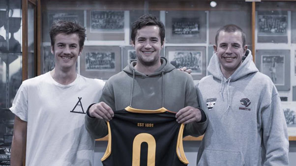 Tom, Jack and Max Worrell will pay tribute to their mum as part of the TAC's Towards Zero football round.